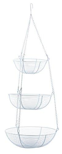 RSVP 3-Tier Hanging Baskets, White