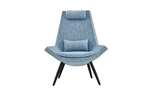 Monowi Contemporary Living Room/Bedroom Accent Chair with Head/Back Rest, Blue | Model CCNTCHR - ()