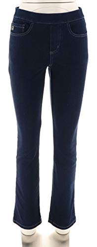 Belle Kim Gravel Flexibelle Pull-On Jeans Lace Dark Indigo 2 New A293586 from Belle by Kim Gravel