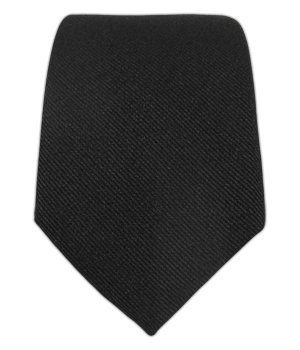 The Tie Bar 100% Woven Silk Black GrosGrain Solid 2 1/2 Inch Skinny Tie (Silk Solid Black Necktie)