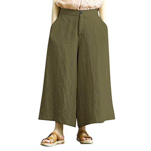 Spiaggia Da Cotone Estivi Pantaloni Militare Bloomers Larghi Beudylihy Verde Di Aladdin Donna wYazn