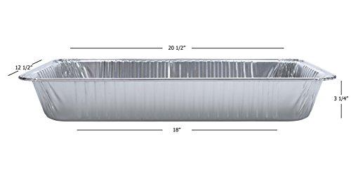 DOBI (15-Pack) Full-Size Deep Chafing Pans - Disposable Aluminum Foil Steam Table Deep Pans, Full Size - 20 1/2'' x 12 1/2'' x 3 1/4'' by DOBI (Image #2)