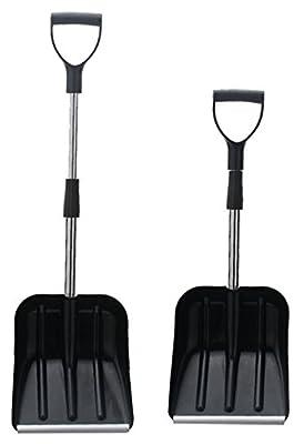 "Power Small Telescopic Snow Shovel | 38.1"" Overall Length | 30.3"" Collapse Length (Black Color)"