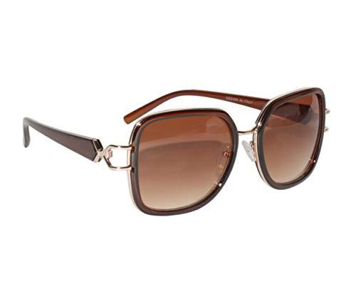Peter Jones Brown Square Sunglasses for Girls/Women (RD007BW)