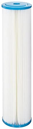 """Hydronix SPC-45-2010 Polyester Pleated Filter 4.5"""" OD X 20"""" Length, 10 Micron"""