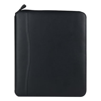 (Monarch FC Basics Spacemaker Vinyl Zipper Binder - Black)