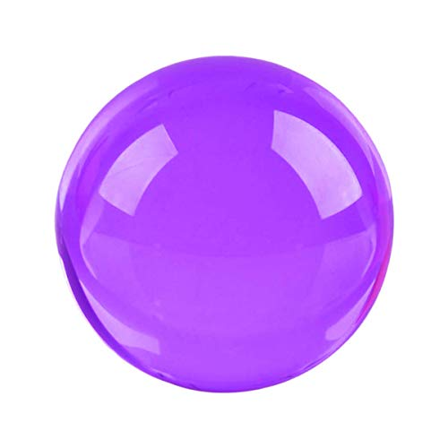 "Qwirly Multipurpose Glass Gazing Ball Bright Feng Shui Gazing Sphere for Indoor or Outdoor Decor - Fits to Wind Spinners, Photo Booth Props and Party Decorations - 2"" Diameter, Purple"