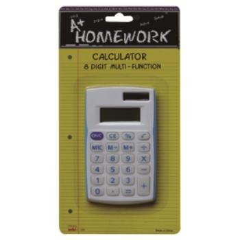Battery Calculator w/8 Digit Display- Asst Colors 48 pcs sku# 479183MA by A+Homework