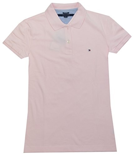 Tommy Hilfiger Women Easy Fit Logo Polo T-Shirt (XL, Light Pink)