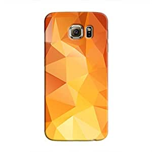 Cover It Up - Orange White Pixel Triangles Samsung Galaxy Note 5 Hard Case