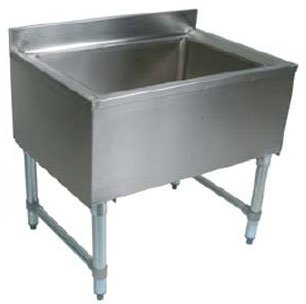 "John Boos EUBIB-12-3621 Stainless Steel Underbar Ice Bin with Galvanized Legs, 36"" Length x 21"" Width"