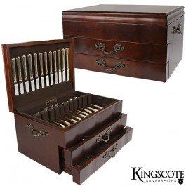 Kingscote Silversmiths - Jamestown 2-Drawer Mahogany-200cap (2 24 Drawer)