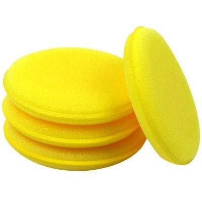 HaiMa Auto Fartage Mousse Éponge Applicateur Propre Pad 12Pcs-Yellow Bricolage