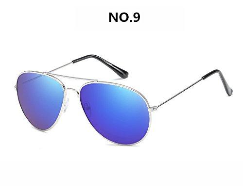 Gafas de de 15 Sol de Marco del Sol la Gafas Gafas Masculino Marca NO Metal de 9 No de diseñador Hombre de con Unisex Mujer Gafas Gafas de ZHANGYUSEN Sol XwxUpIEqw