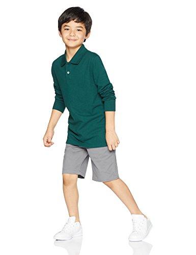 Amazon Essentials Boys Long-Sleeve Pique Polo Shirts