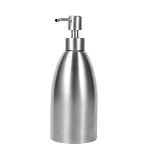Haodan electronics Floor Lamps 500ml Stainless Steel Soap Dispenser Kitchen Sink Faucet Bathroom Shampoo Box Soap Container Deck Mounted Detergent ()