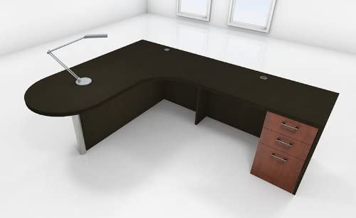 3pc L Shape Modern Executive Office Desk Set