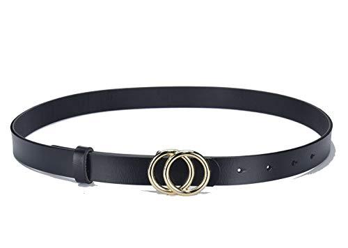 945da7b44c8 Fashion G-Style Gold Buckle Unisex Cowhide Leather Belt Vintage Thin Dress  Belts For Jeans