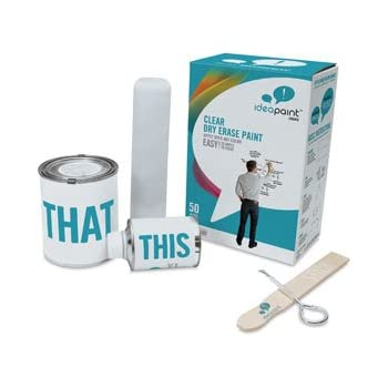 Ideapaint create series 50 sq ft kit for Remarkable whiteboard paint reviews