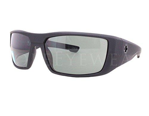 Spy Dirk Soft Matte Black Happy Gray Green - Sunglasses Spy Kids