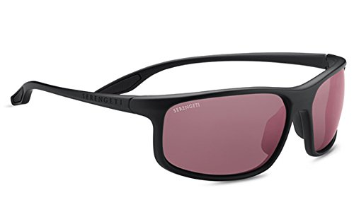 Serengeti Levanzo Sunglasses, Black Satin by Serengeti