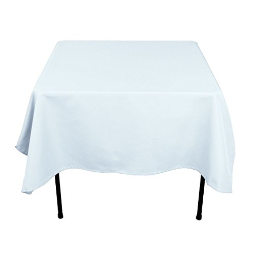Gee Di Moda Square Tablecloth - 70 x 70 Inch - Baby Blue Square Table Cloth for Square or Round Tables in Washable Polyester - Great for Buffet Table, Parties, Holiday Dinner, Wedding & More