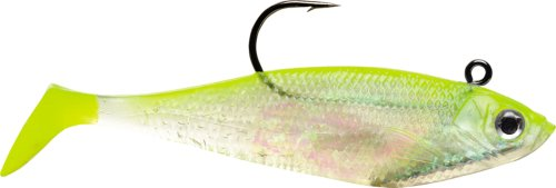 Storm WildEye Swim Shad 02 (Shiner Chart. Silver, Size- (0.125 Ounce Shiner)