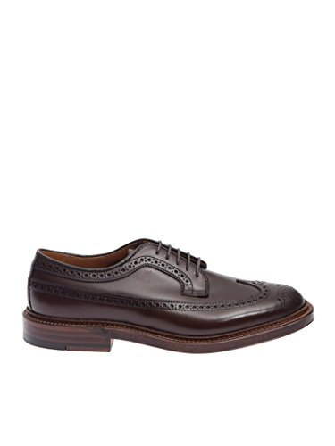 Alden Men's ALD976CO Brown Leather Lace-Up Shoes made in Massachusetts