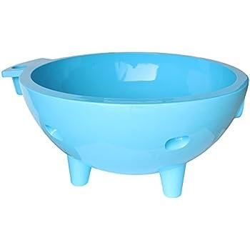 ALFI brand  FireHotTub-LB Round Fire Burning Portable Outdoor Fiberglass Soaking Hot Tub, Light Blue