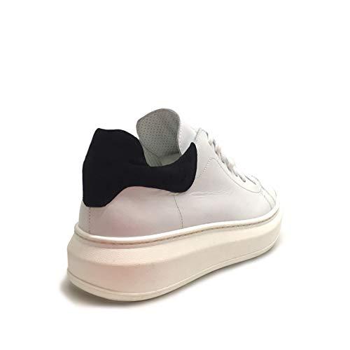 In Made Vera Bianche Pelle Alta Donna Bianco Suola Italy Nero Sneakers Camoscio xUwnz84Zwq
