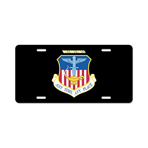 XYcustomBest Matte Black Love License Plate Frame, Dark Stainless Steel Slim Design Decorative Cover, U.S. Air Force 16th Special Operations Wing, GM Front/Back Vehicle, 2 Holes and Screws