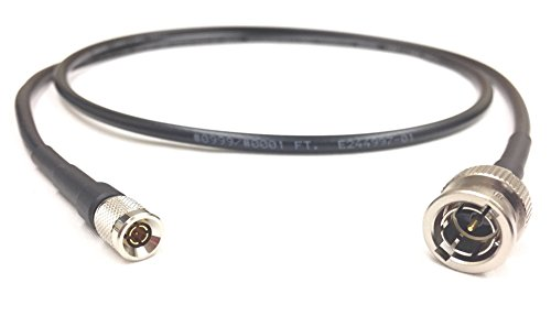 15 Foot HD-SDI BNC to Din 1.0/2.3 Mini RG59 3G Video Coaxial 75 Ohm Cable Black by Custom Cable Connection