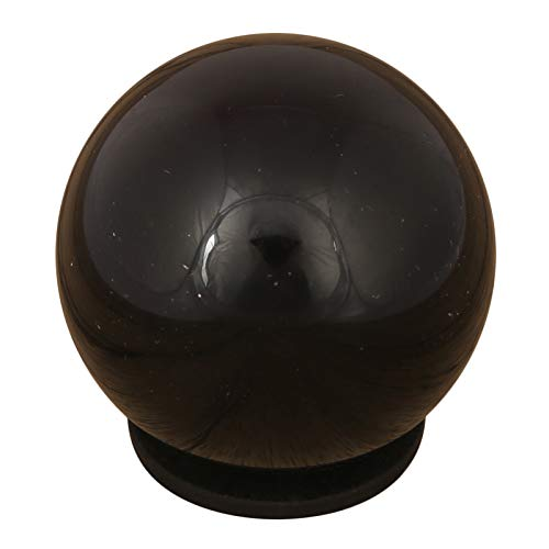 CRAFTSTRIBE Black Tourmaline Sphere Stone Ball with Ring Stand Aura Balancing -