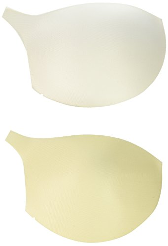 Dritz 53068-AB Soft Molded Bra Cups, A/B, Reversible White/Nude