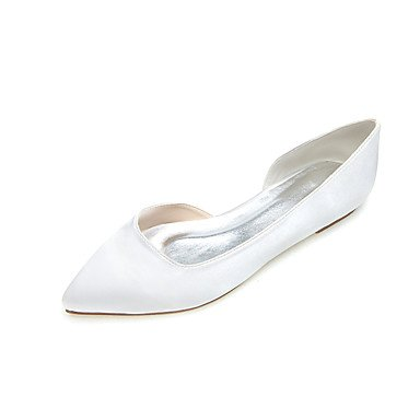 Satin Pink Ivory UK3 EU35 CN34 amp;Amp; Fall Blue US5 Party Evening Purple Wedding Spring Summer White Heel Flat Silver Casual Black Women'S OqZBtxK