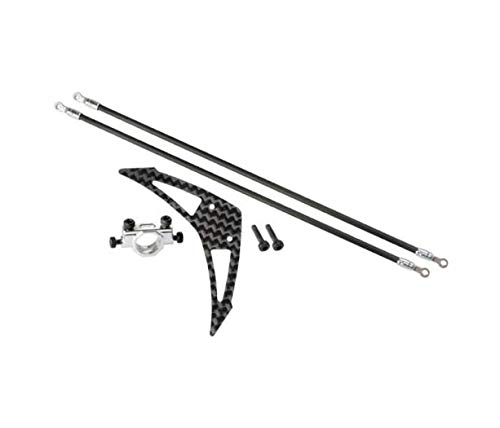 (Genuine Blade 230S/250 CFX Silver Tail Boom Support & Fin Set MH0230S023S Quick Arrive)