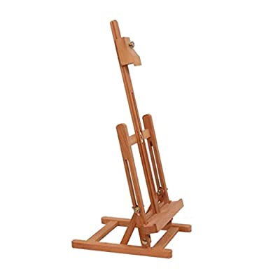 Easel Art Desktop Desktop Display Stand Poster Frame Photo Frame Red Enamel Wooden Lifting Table Painting