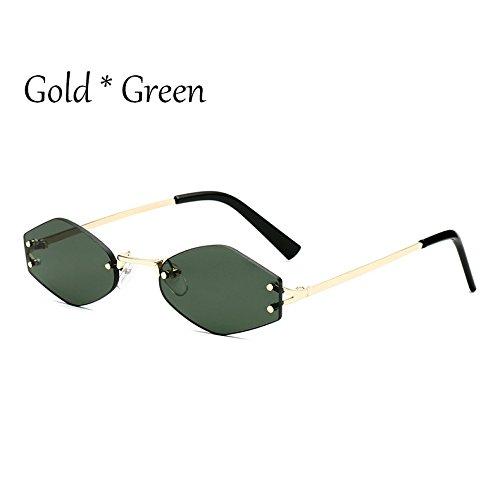 C1 Green Reborde Tonos Lens C2 Uv354 G Gafas Cuadrado Señoras Lente Moda De Negra Sol Pequeño Gafas TIANLIANG04 1pqanH744