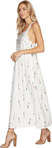 Boho-Chic Vacation & Fall Looks - Standard & Plus Size Styless - Lucky Brand Women's Embroidered Apron Dress Natural Multi Dress
