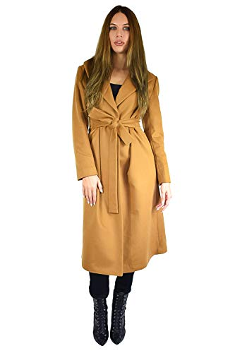 Cashmere Boutique: Women's Full Length Belted Coat in 100% Pure Cashmere (Color: Camel, Size: 6)