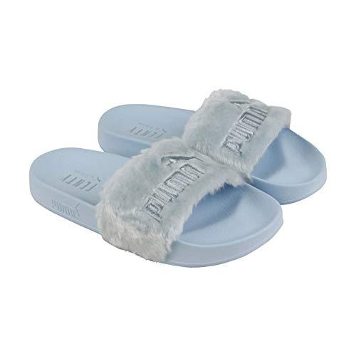 Silver Fur (PUMA Women's Fur Slide Cool Blue/Puma Silver 7.5 B US)