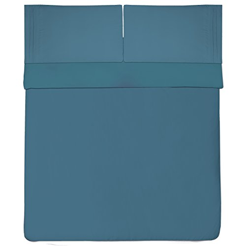 Sweet Home Collection 1800 Thread Count Bed Sheet Set Egyptian Quality Brushed Microfiber 5 Piece Deep Pocket, Split King, Teal by Sweet Home Collection (Image #2)