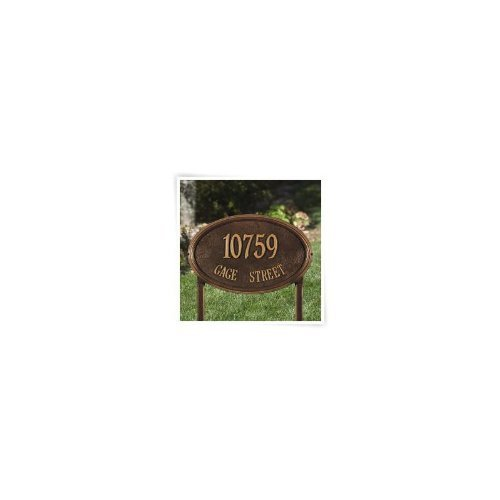 Whitehall Concord Oval Lawn Plaque-Engraving, Gift, Garden, Home,Wedding,Address