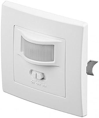 Detector de Movimiento PIR (160°, LED, 2 Cables), Color Blanco Detector de Movimiento - Sensor de Movimiento (1): Amazon.es: Industria, empresas y ciencia