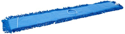 Impact LFCB48 Fringe Dry/Dust Mop Microfiber Pad, Canvas Back, 48'' Length, Gray/Blue (3 Bags of 12) by Impact Products