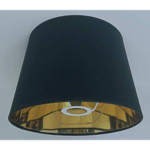 Abat-jour de 25,4cm pour lampe de table, fait à la main, intérieur doré, style Empire