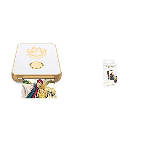 Lifeprint Harry Potter Magic Photo and Video Printer for iPhone and Android. Your Photos Come to Life Like Magic White LP007-5 & Harry Potter Magic Photo and Video Printer Sticky - Photo Potter Harry Film