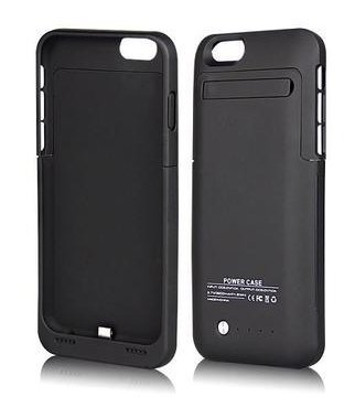iPhone 6 6S Charging Case MUZE® 4.7 Inch Slim Cases Battery Rechargeable Cases Charging 3500mah Rechargeable Battery Cases with Built-in Video Kickstand Retail Packing (for iPhone 6 6S/Black/1pcs)