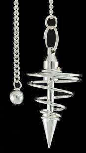- AzureGreen GPSS Silver Plated Brass Spiral Pendulum Divination Dowsing
