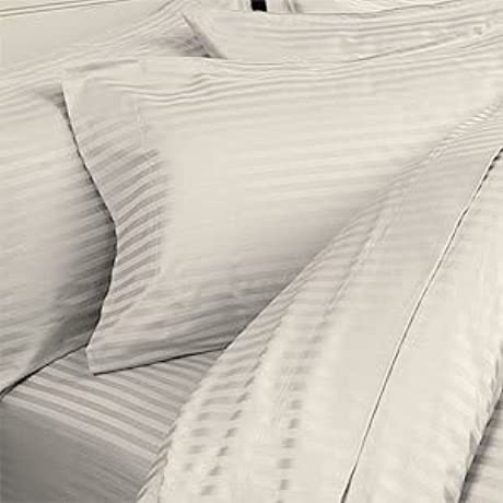 8PC ITALIAN 1000TC Egyptian Cotton GOOSE DOWN COMFORTER Bed In A Bag Sheet Duvet King Ivory St